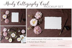 Moody Calligraphy Mockup Set
