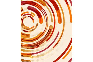 Circular lines, circles, geometric abstract background