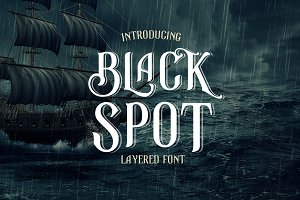 Black Spot Vintage Decorative Font