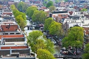Vertical Amsterdam city view