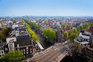 Amsterdam panorama, Holland