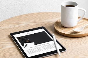 iPad Lifestyle Photo Mockup