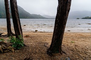 Scenic view of lake in Killarney a misty day