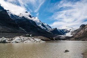 Scenic view of Grossglockner glacier