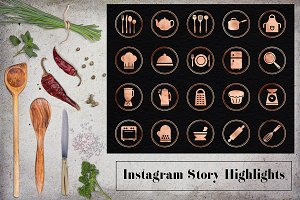 Kitchen Utensils Instagram Icons