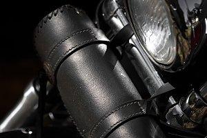 motorcycle tool bag close up