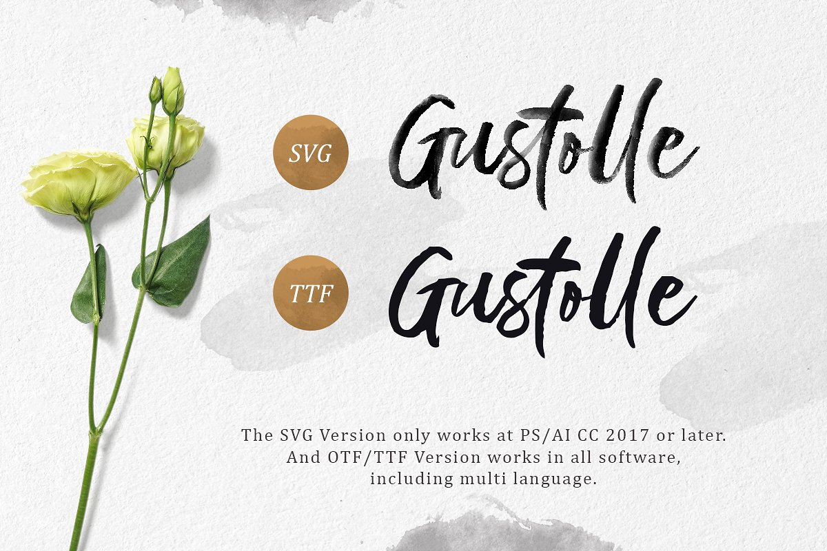 Gustolle SVG Font in Display Fonts - product preview 6