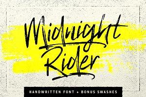 Midnight Rider - Handwritten script