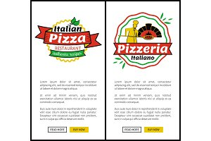 Italian Pizza Restaurant Web Vector Illustration