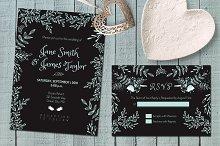 Dark Wedding Invitation