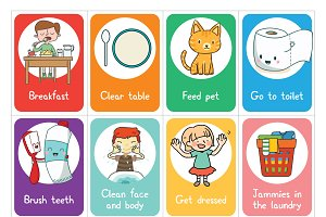 Printable Chore Cards for Children