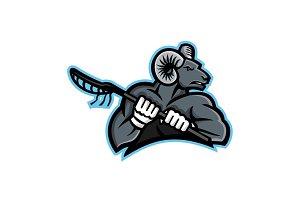 Bighorn Ram Lacrosse Mascot