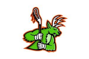 Stag Deer Lacrosse Mascot