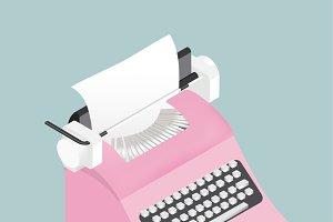 Vector of retro typewriter icon