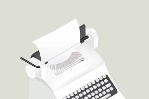 Vector of retro typewriter icon