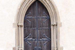 Old church or castle front door