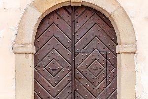 Wood arch doorway