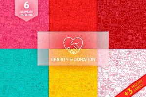 Charity Donation Line Tile Patterns