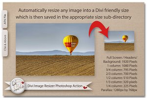 Divi Image Resizer Photoshop Action