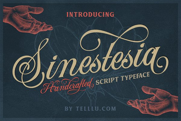 Fonts: Telllu & Friends - Sinestesia Script (40% OFF)