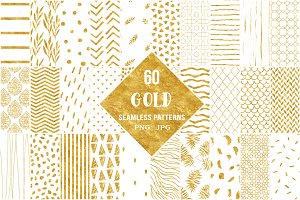60 Gold Seamless Pattern Papers