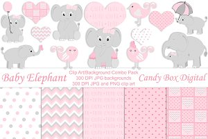 Girl Baby Elephant Combo Pack