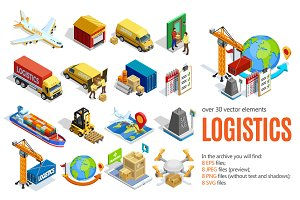 Isometric Logistics Set