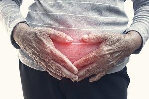 woman stomachache
