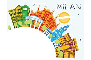 Milan Italy City Skyline