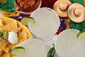 Three Margaritas and Nachos