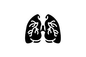 Web icon. Lungs. vector illustration