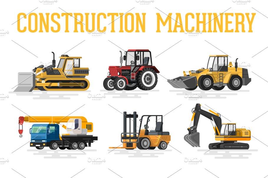 Construction Machinery Illustrations Creative Market