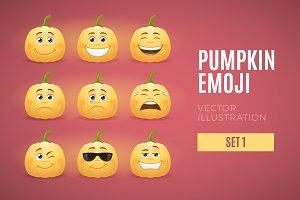 Pumpkin Emoji - Set 1