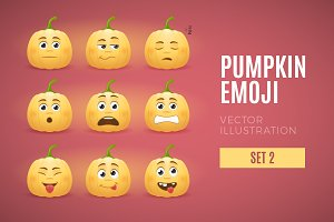 Pumpkin Emoji - Set 2