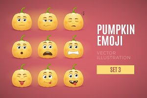 Pumpkin Emoji - Set 3