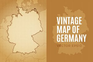 Vintage Map of Germany