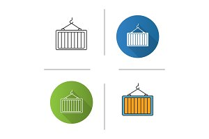 Intermodal container icon
