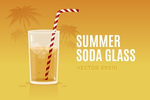 Summer Soda Glass