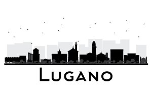 Lugano Switzerland skyline