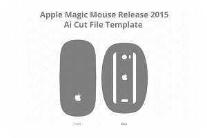Apple Magic Mouse Vinyl Skin Vector