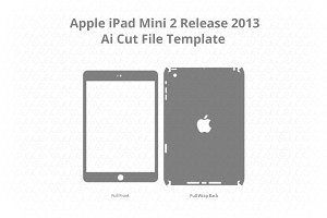 iPad Mini 2 Vinyl Skin Cut File