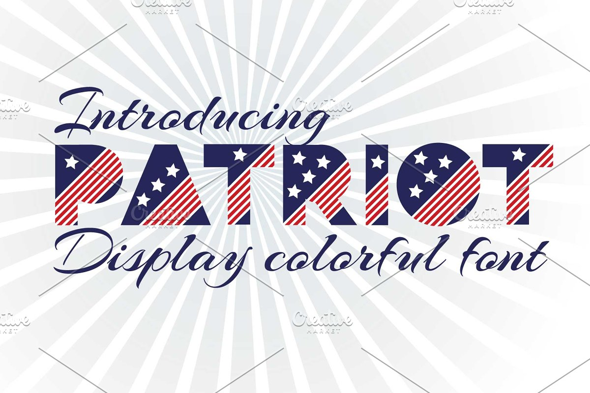 Patriot font family in Display Fonts