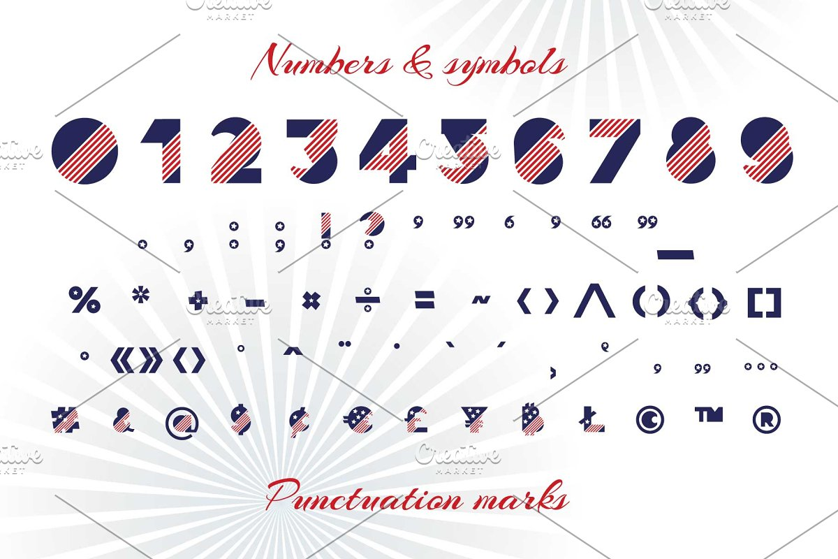 Patriot font family in Display Fonts - product preview 3