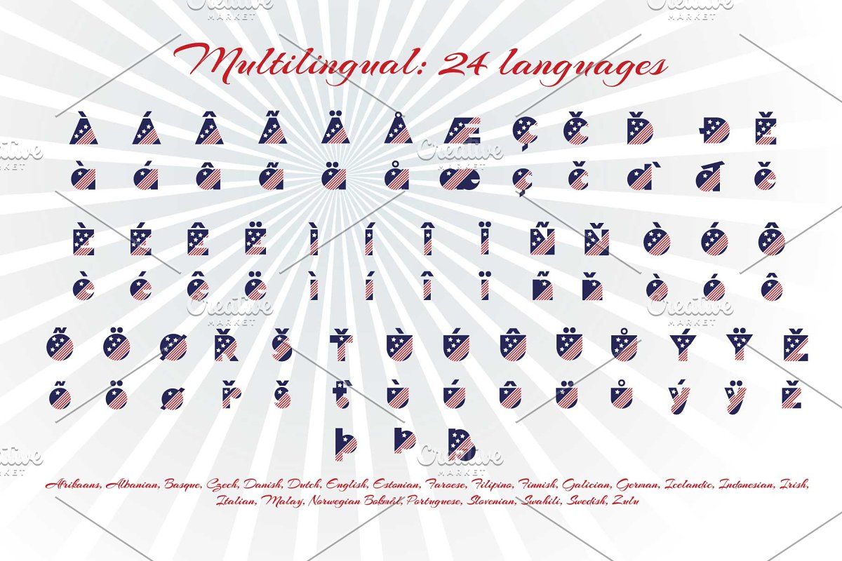 Patriot font family in Display Fonts - product preview 5