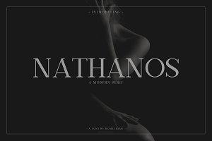 Nathanos - Serif Typeface 30% off