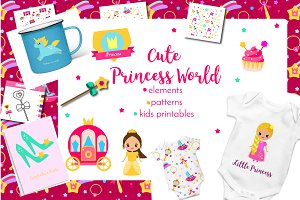 Cute princess world set