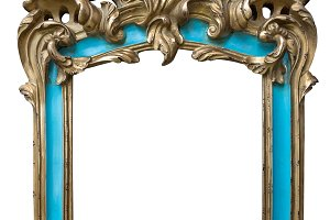 Antique golden turquoise  frame