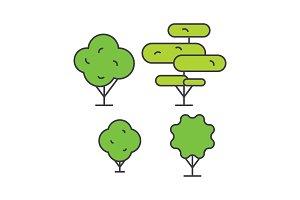 Garden decoration line icon concept. Garden decoration flat vector sign, symbol, illustration.