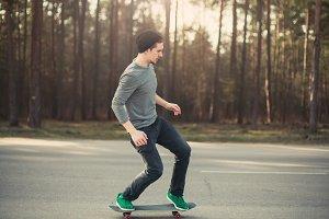 skateboarder guy on a sunny day
