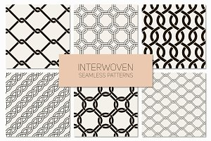 Interwoven Seamless Patterns Set